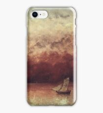 Gustave Courbet - Lake Leman With Setting Sun iPhone Case/Skin