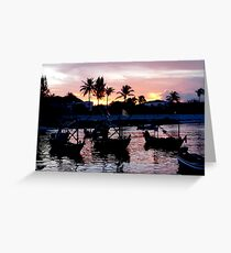 Fishing Boat Sunset Greeting Card