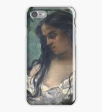 Gustave Courbet - Gypsy In Reflection 1869 iPhone Case/Skin