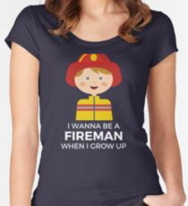 For The Fireman That Hasn't Grown Up Yet! Women's Fitted Scoop T-Shirt