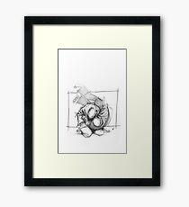 THROW 4_WHITE Framed Print