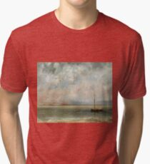 Gustave Courbet - Clouds Over Lake Geneva Tri-blend T-Shirt