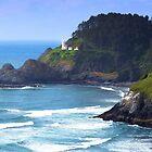 Heceta Head Lighthouse, Oregon by Thomas Burtney