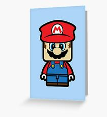 Super Chibi Mario Greeting Card