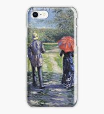 Gustave Caillebotte - The Path Uphill iPhone Case/Skin