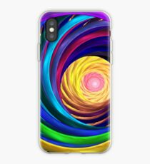 Neon tunnel iPhone Case