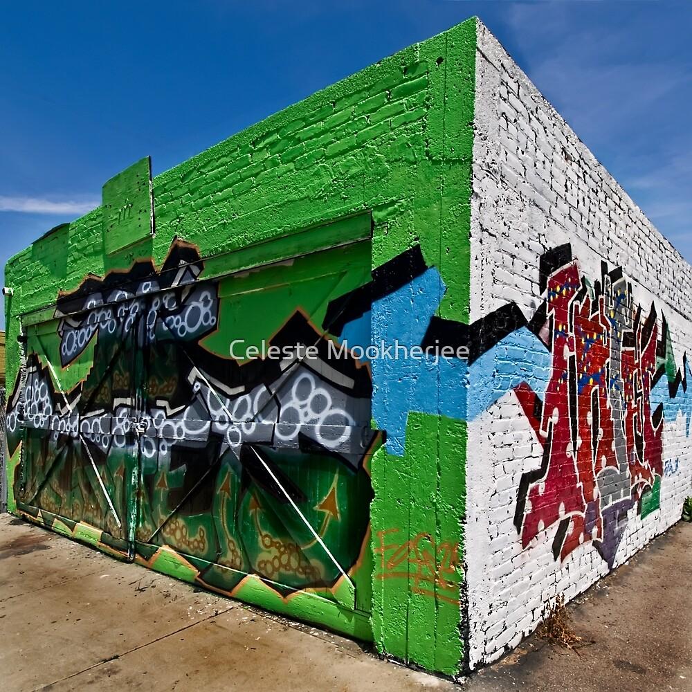 Graffiti corner by Celeste Mookherjee