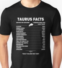 Funny Taurus Facts T-Shirt Unisex T-Shirt