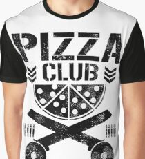Pizza Club Black Graphic T-Shirt