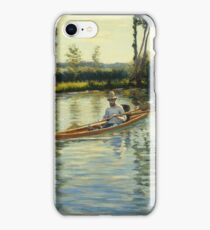 Gustave Caillebotte - Boating On The Yerres (Perissoires Sur Lyerres) (1877) iPhone Case/Skin