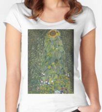 Gustav Klimt - The Sunflower 1907 Women's Fitted Scoop T-Shirt