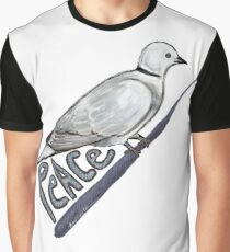 Eurasian Collared-Dove and Peace Graphic T-Shirt