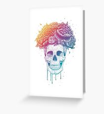 Color skull Greeting Card