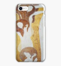 Gustav Klimt - The Beethoven Frieze The Longing For Happiness Finds Repose In Poetry Right Wall iPhone Case/Skin