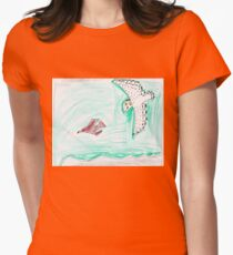 Female Snowy Chasing Young Bald Eagle T-Shirt