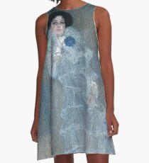 Gustav Klimt - Portrait Of Marie Henneberg 1902 A-Line Dress