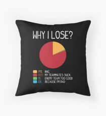 Gamer: Why I lose? Throw Pillow