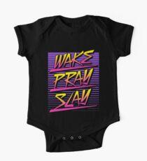 Wake Pray Slay (Sunset Retro) Kids Clothes