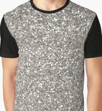 Silver Glitter Graphic T-Shirt