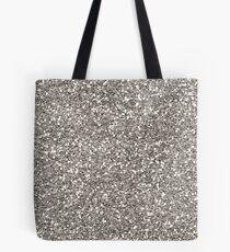 Silberner Glitter Tote Bag