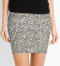 Silver Glitter Mini Skirt