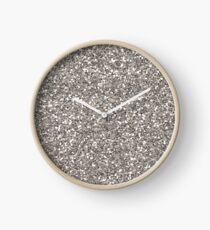 Silberner Glitter Uhr