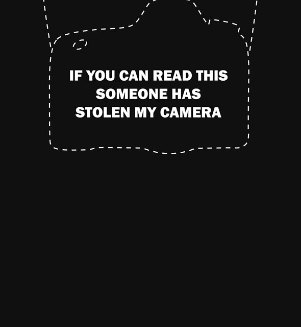 If you can read this someone has stolen my camera by topphotogear
