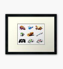 Secret of Monkey Island objects Framed Print