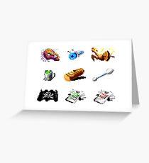Secret of Monkey Island objects Greeting Card