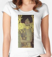 Gustav Klimt - Judith Women's Fitted Scoop T-Shirt