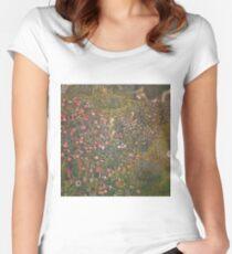 Gustav Klimt - Italian Horticultural Landscape Women's Fitted Scoop T-Shirt