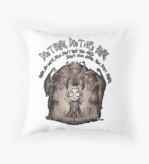 dont blink Throw Pillow