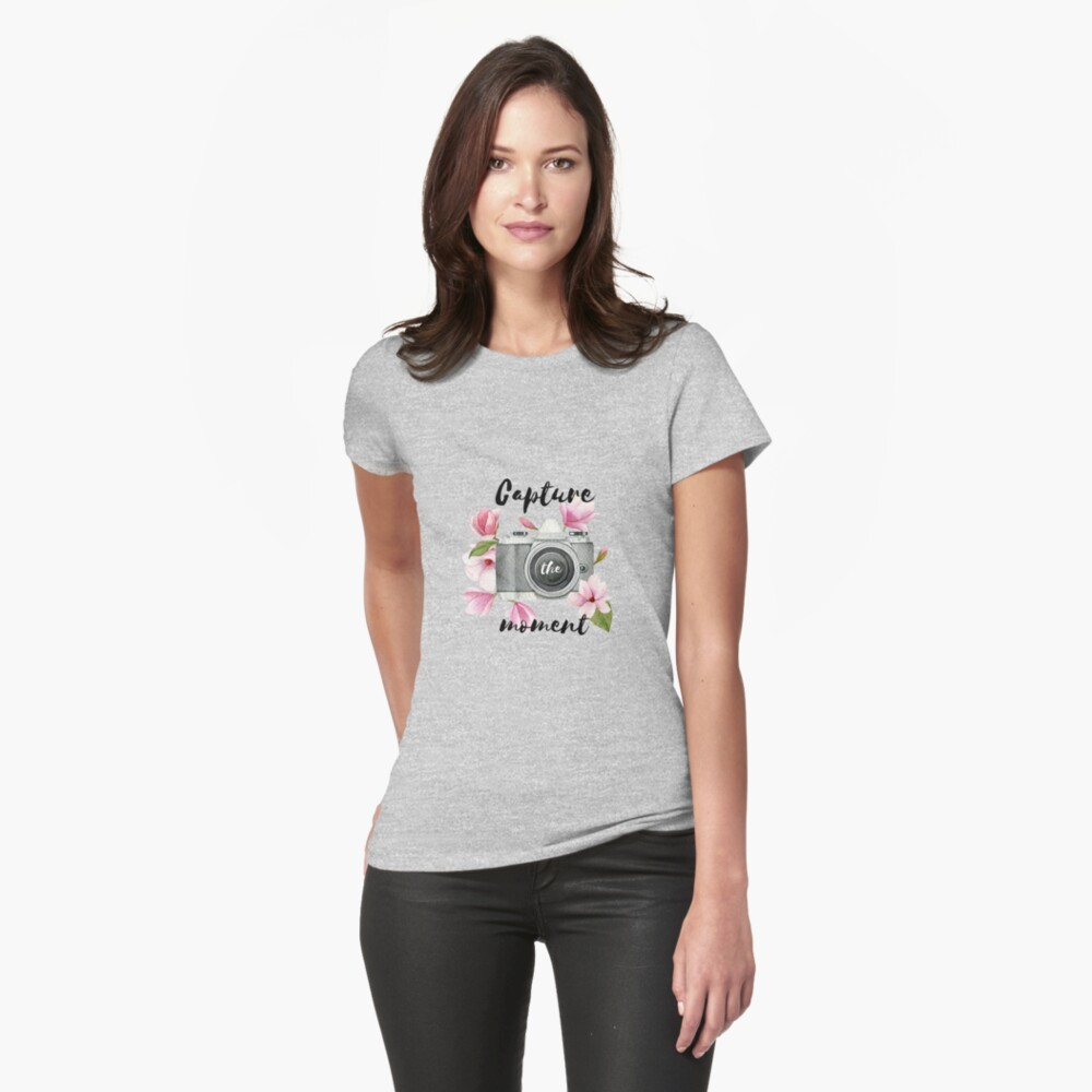 Capture the moment Fitted T-Shirt