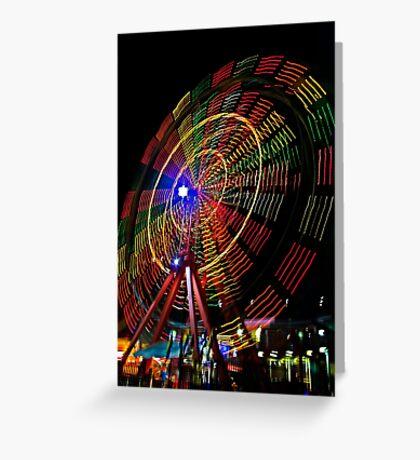 Ferris Wheel in Motion - Luna Park, Sydney Greeting Card