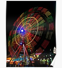 Ferris Wheel in Motion - Luna Park, Sydney Poster