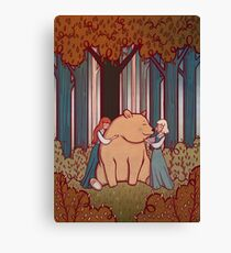 Snow White and Rose Red Canvas Print