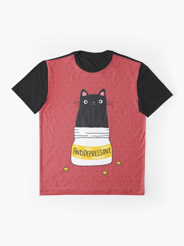 Alternate view of FUR ANTIDEPRESSANT Graphic T-Shirt