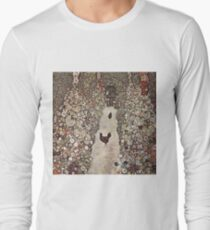 Gustav Klimt - Garden With Roosters Long Sleeve T-Shirt