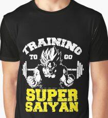 TRAINING TO GO SUPER SAIYAN - yellow Graphic T-Shirt