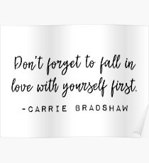 Sex in der Stadt, Carrie Bradshaw - Vergiss nicht, dich zu verlieben Poster