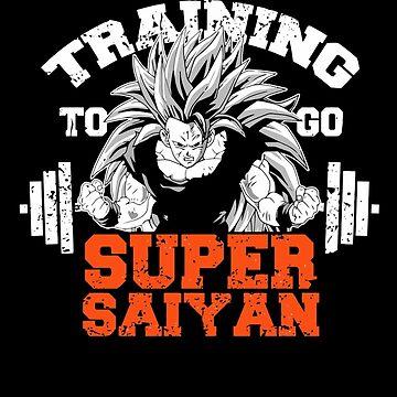 TRAINING TO GO SUPER SAIYAN - orange by aaronlriffle