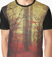 the way in - mysterious misty woodland Graphic T-Shirt