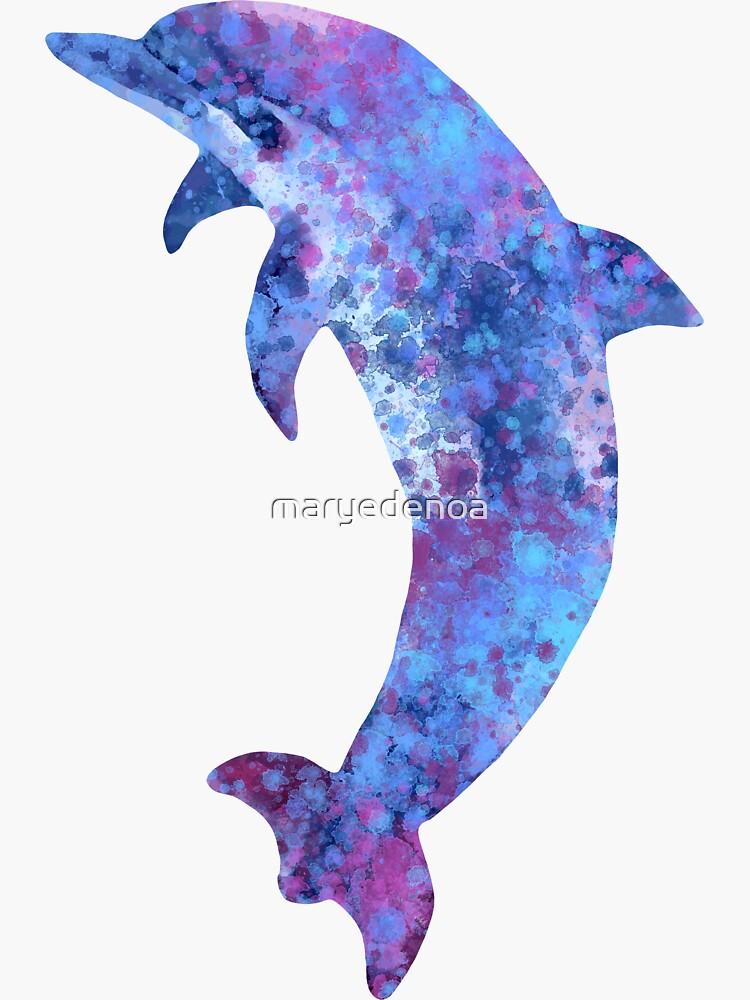Delfín de acuarela de maryedenoa
