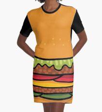 burger Graphic T-Shirt Dress