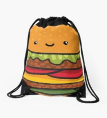 burger Drawstring Bag