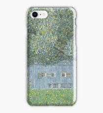 Gustav Klimt - Farmhouse In Upper Austria, 1911-12 iPhone Case/Skin