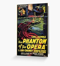 Vintage horror prints - Phantom Of the Opera Movie Poster Greeting Card