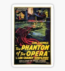 Vintage horror prints - Phantom Of the Opera Movie Poster Sticker