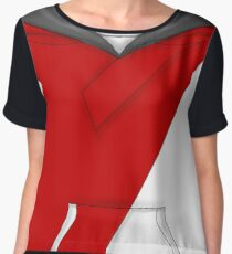 Pokemon Go Red Avatar Shirt Women's Chiffon Top