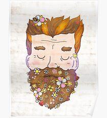 Flower beard Poster